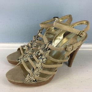 Lovely People Eternity Beige Anthro Sandals heel 8